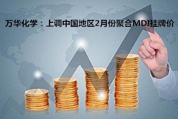 万华化学:上调中国地区2月份聚合MDI挂牌价